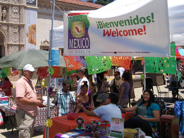 The House of Mexico had a table in the Plaza de Panama during the 2018 Cinco de Mayo celebration.