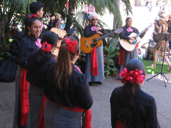 When not on the main stage, City Heights Mariachi did some more entertaining along El Prado.