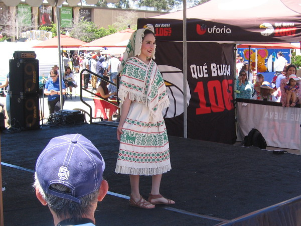 The various traditional Mexican dresses were from the Olga de la Vega private collection.