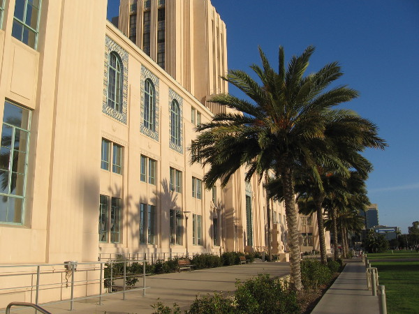 Late light on San Diego's iconic 1938 County Administration Building.