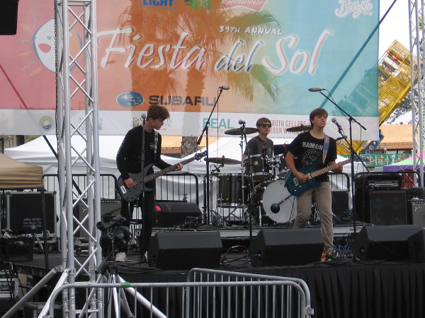 The Rockademy performs on the main stage at Fiesta del Sol in Solana Beach.