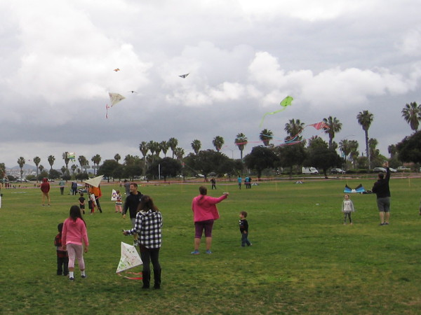 Any day blessed with a breath of wind, even a cloudy one, is a perfect day to go fly a kite!