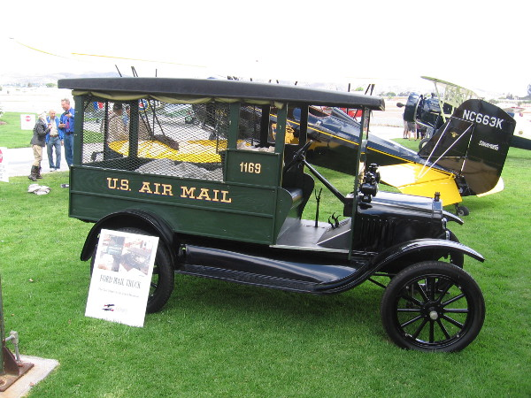 A Ford U.S. Air Mail truck was on display during the event, courtesy of the San Diego Air and Space Museum.