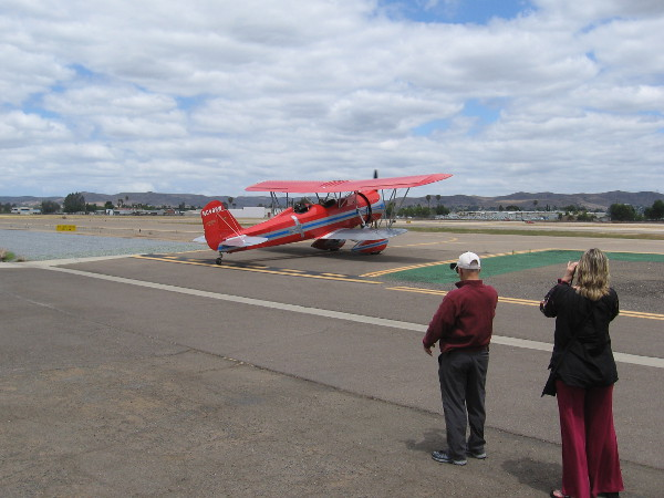 The second Stearman Speedmail aircraft follows.