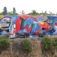 Cool mural overlooks Solana Beach train tracks!
