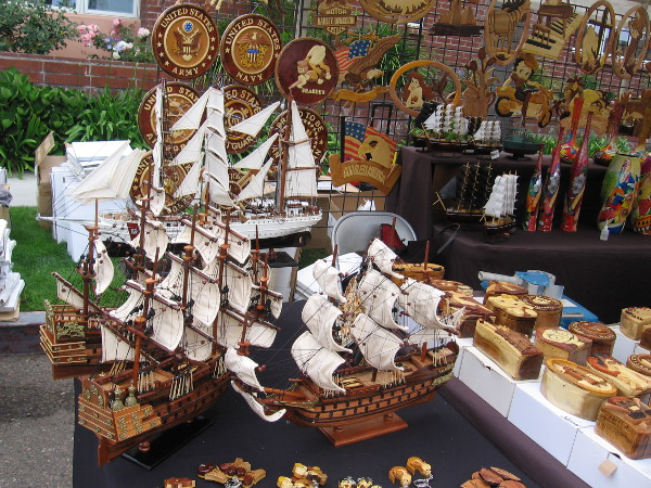 Another vendor had all sorts of cool wooden items, including some awesome model ships.