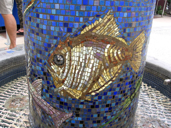 Another beautiful fish made of small ceramic tiles.