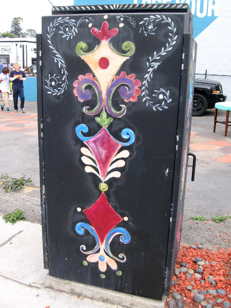 More cool street art decorates a utility box on Lomas Santa Fe Drive in Solana Beach.