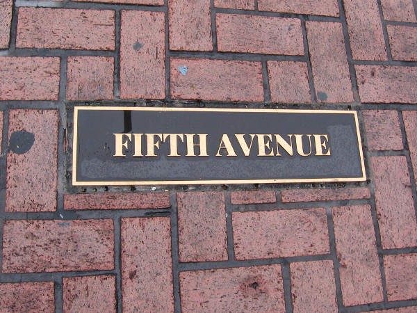 Fifth Avenue south of Broadway is the hub of San Diego's popular Gaslamp Quarter.