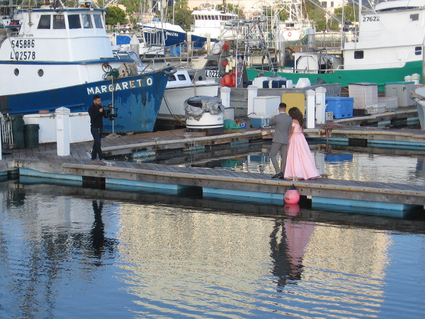 A few days ago I spotted a couple in Tuna Harbor having their engagement photos taken by the water.