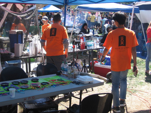 In Balboa Park, at the International Cottages, a big food festival was underway on Sunday. Yummy smells filled the air.