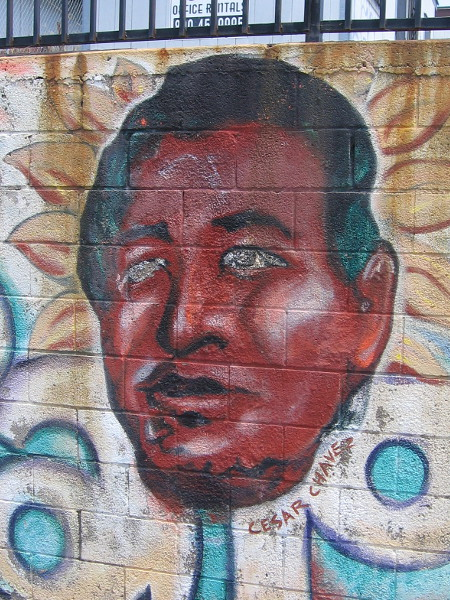 The face of Cesar Chavez.