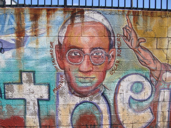 The face of Óscar Romero.