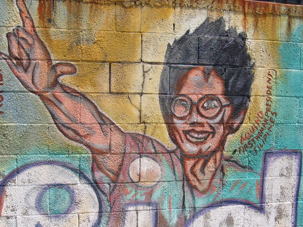 The face of Corazon Aquino.