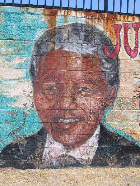 The face of Nelson Mandela.