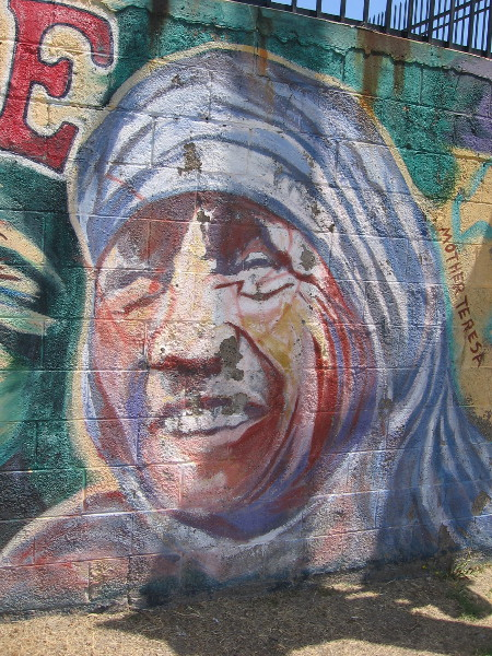 The face of Mother Teresa.
