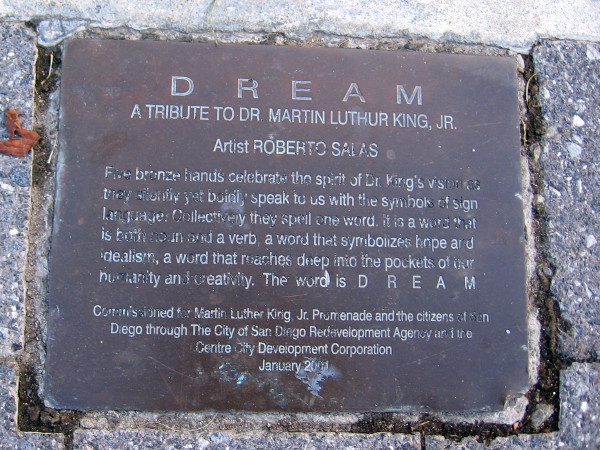 DREAM - A tribute to Dr. Martin Luther King, Jr. by artist Roberto Salas. A word that reaches deep into our humanity and creativity.