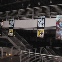 Comic-Con banners in Balboa Park's Federal Building!