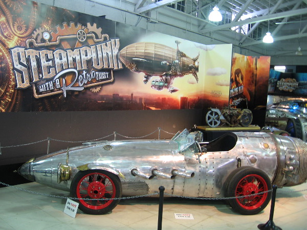 One of many cool vehicles you'll see at the San Diego Automotive Museum during their show Steampunk: The Exhibit.