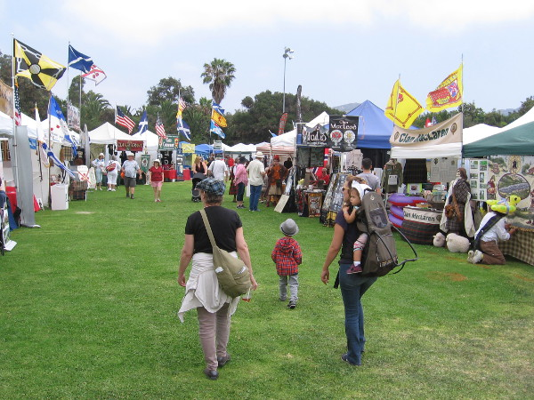 The event attracts people from around Southern California. Visitors are immersed in Scotland's unique and colorful culture.