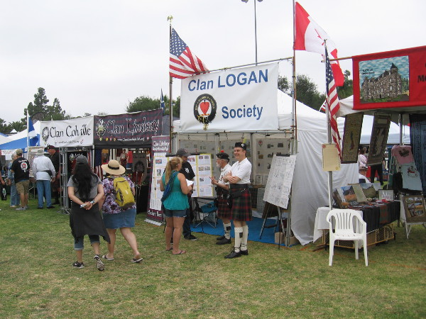 Dozens of Scottish clans participate in the yearly gathering. Their proud history is on display in many tents on the grass.