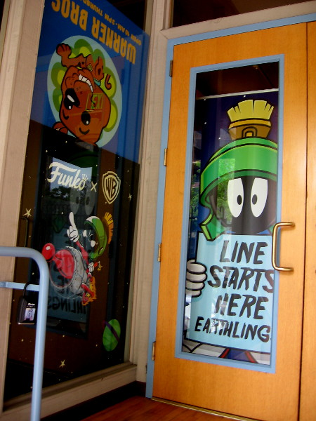 Marvin the Martian inside the front door of Funko South. The office is located on Market Street, and serves as Funko's cool Pop! Up Shop during San Diego Comic-Con!