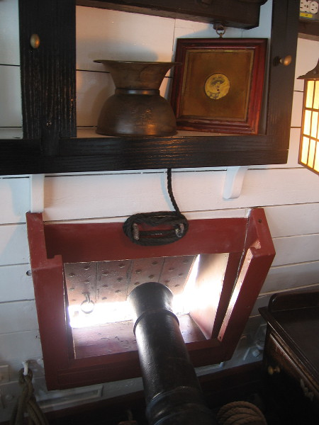 Another photo inside the great cabin of HMS Surprise.