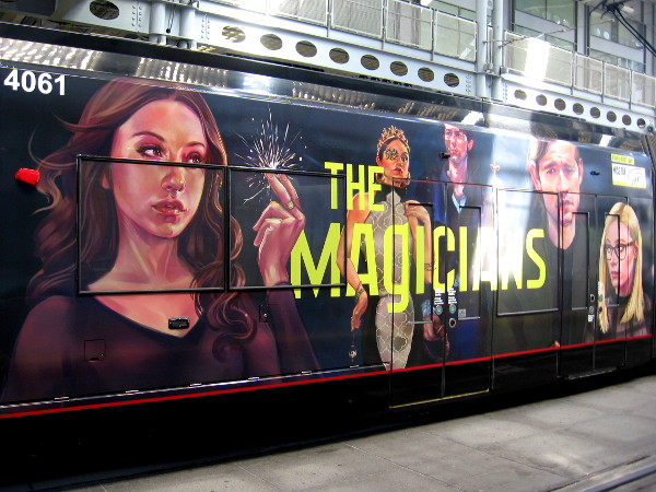 Another photo of the graphics for The Magicians.