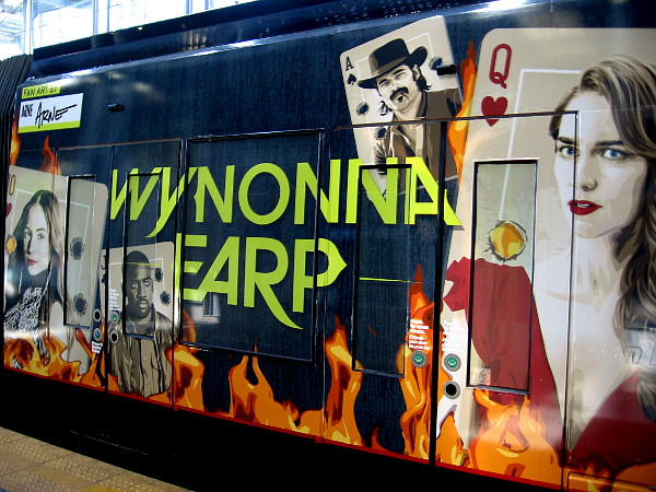 The characters of Wynonna Earp are portrayed on playing cards.