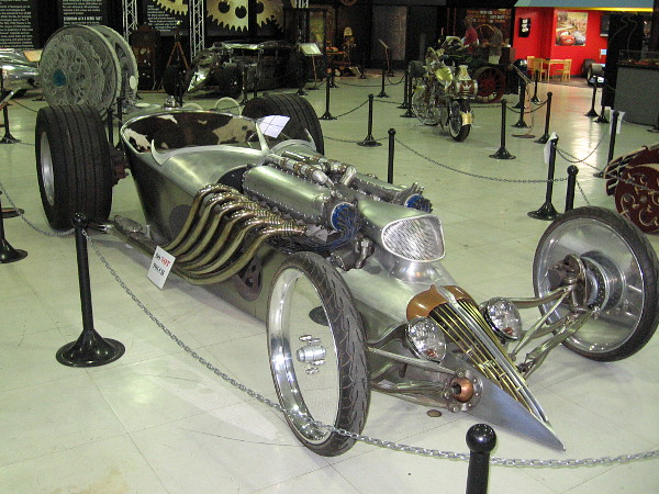One of many super cool vehicles you'll see when you visit the San Diego Automotive Museum during Steampunk: The Exhibit.