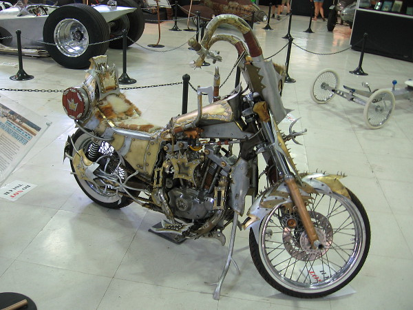 Loki, a custom 1981 Harley Davidson Ironhead Sportster, by metal artisan Marko Djoric.
