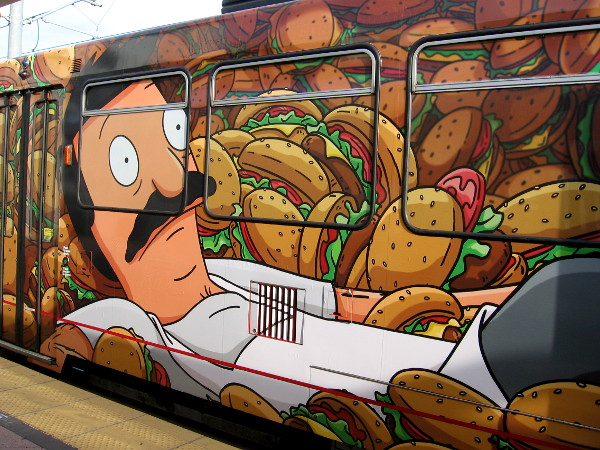 Bob Belcher seems a bit overwhelmed by the avalanche of burgers, however.