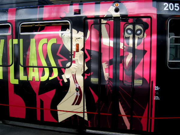 Second photo of the Deadly Class San Diego Comic-Con trolley wrap!