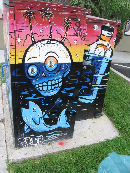 More fun street art on the same utility box on 30th Street in North Park.
