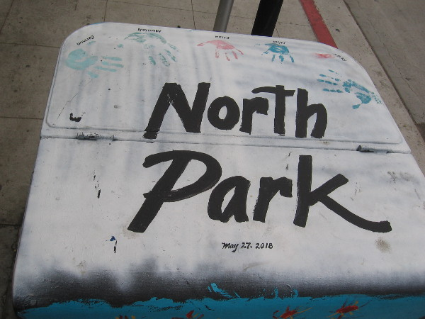 This final North Park electrical box was painted last month. You can find it on Upas Street east of 30th Street, in front of The Taco Stand.