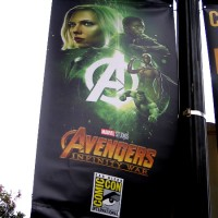 Marvel banners in Gaslamp for 2018 Comic-Con!