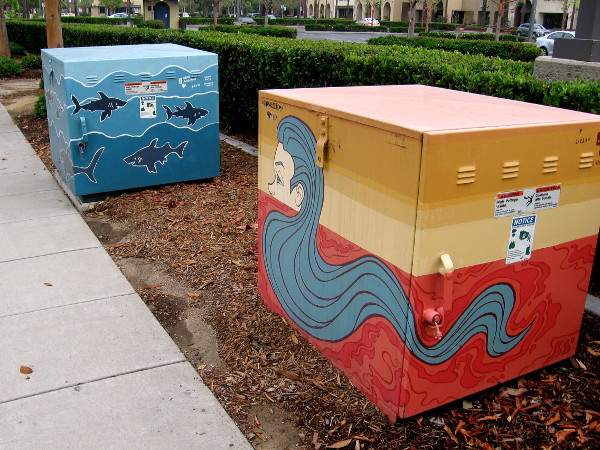 More boxes at Rio Vista in Mission Valley decorated with fun artwork.