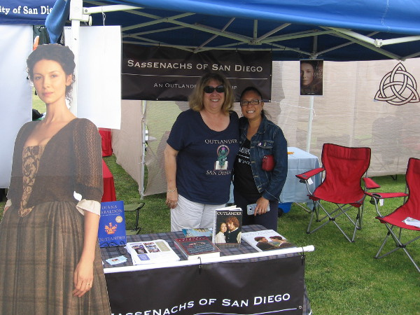 These friendly ladies are the Sassenachs of San Diego. They are big Outlander fans and have a cool blog! Check it out at sass3journey.com