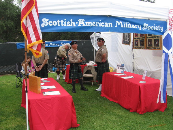 The Scottish American Military Society was present for the annual gathering.
