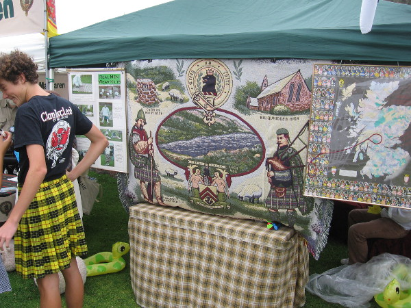 Many beautiful crafts bore images of Scotland and the Scottish people.