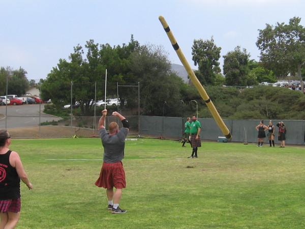 There goes another caber!