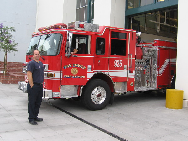 A friendly firefighter told me the engines arrived on Friday!