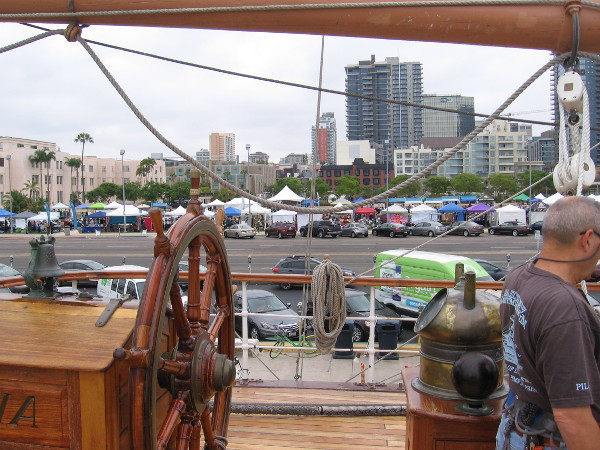 Speaking of fun, I took this photo of the Festival of Yoga from the deck of the historic ship Star of India!