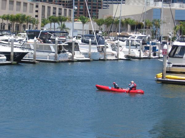 An easy float through the Marriott Marina.