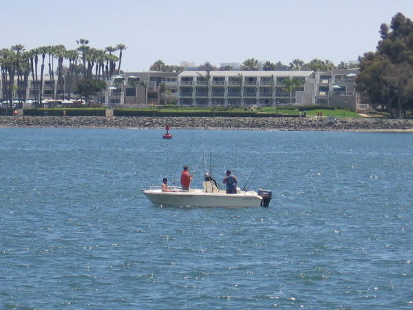 I see the Coronado Island Marriott Resort beyond those fisherman.