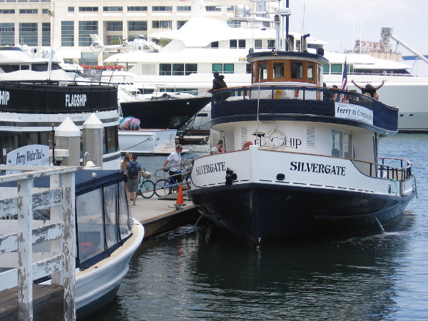 And here's my favorite Coronado ferry, Silvergate. It usually departs near the San Diego Convention Center.