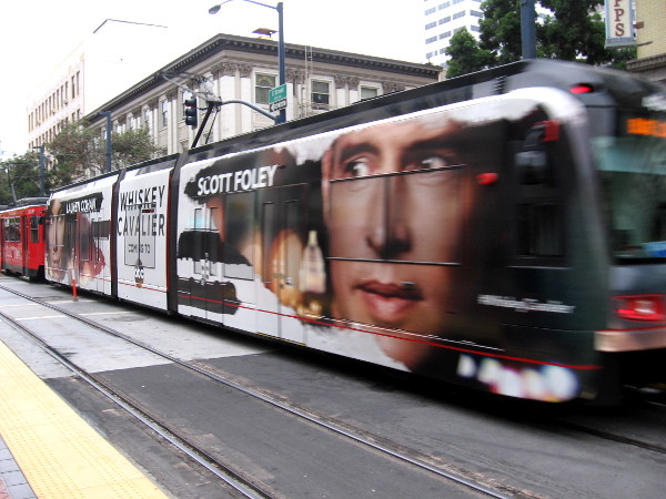 Another cool trolley wrap for 2018 San Diego Comic-Con spotted at the Fifth Avenue station downtown.