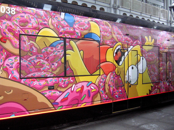 Bart Simpson floats on donuts!