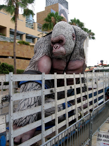 Rampage George has arrived on a truck bed near the Omni and Petco Park for 2018 San Diego Comic-Con!