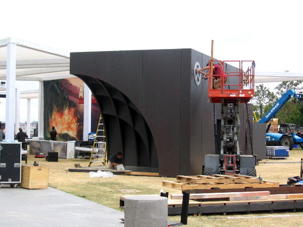 The cool Legion structure is being finished at FXhibition.
